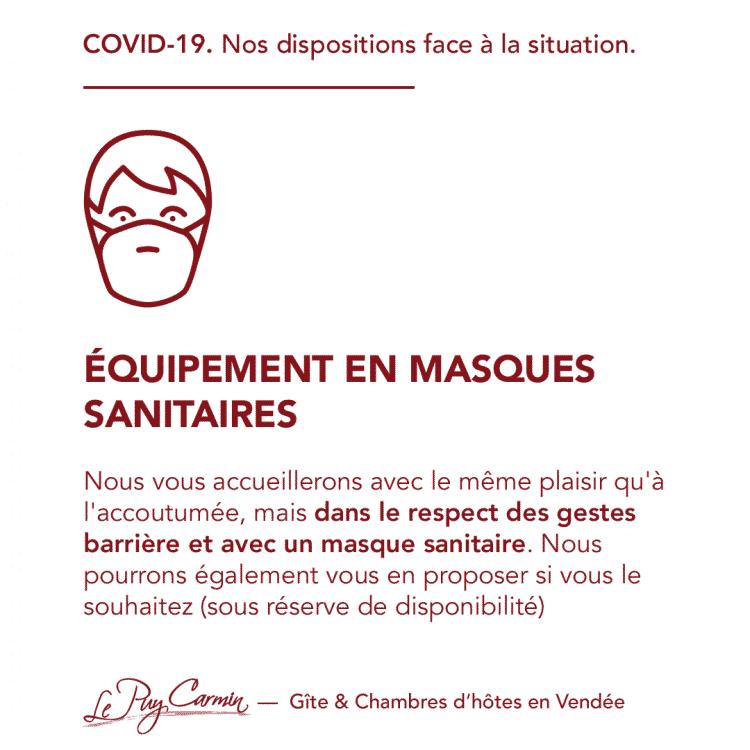 COVID-19 - Équipement en masques sanitaires